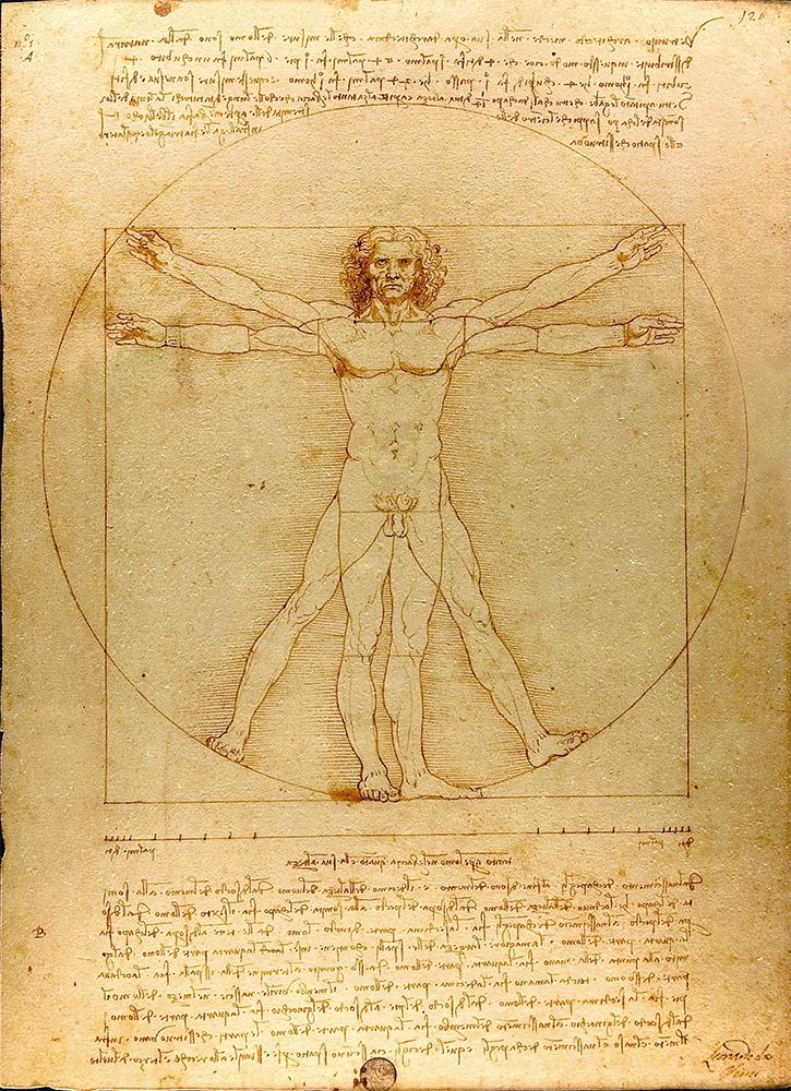 Leonardo Da Vinci, Vitruvian Man, 1492