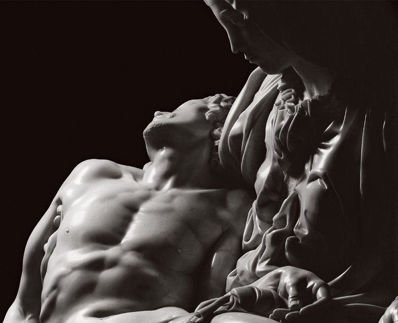 Michelangelo, Pietà, mermer, 1498–1500 (Saint Peter'ın Bazilikası, Roma)